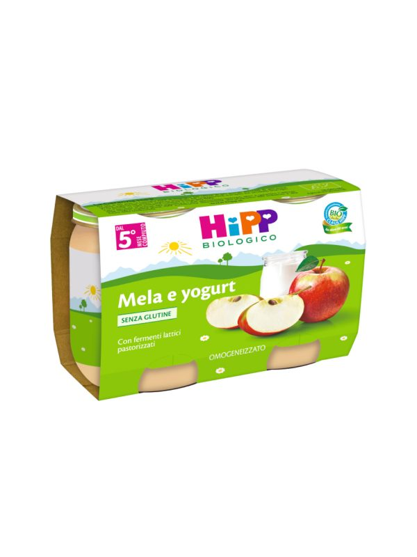 Hipp - Omogeneizzato Mela e yogurt 2x125g - HiPP - Omogeneizzato frutta