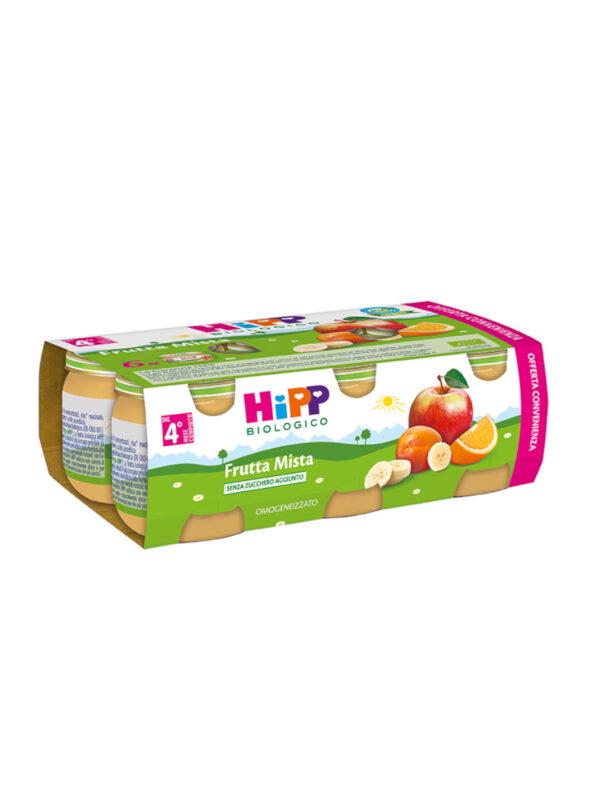 Omogeneizzato Frutta mista 100% 6x80g - HiPP - Omogeneizzato frutta