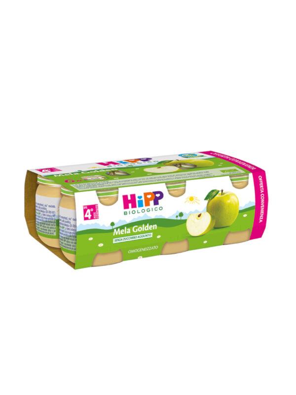 Omogeneizzato Mela Golden 100% 6x80g - HiPP - Omogeneizzato frutta
