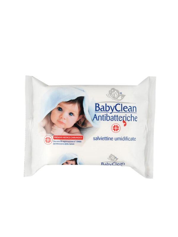 Baby Clean salviette antibatteriche con PMC 20 pz - BABY CLEAN - Accessori Cambio