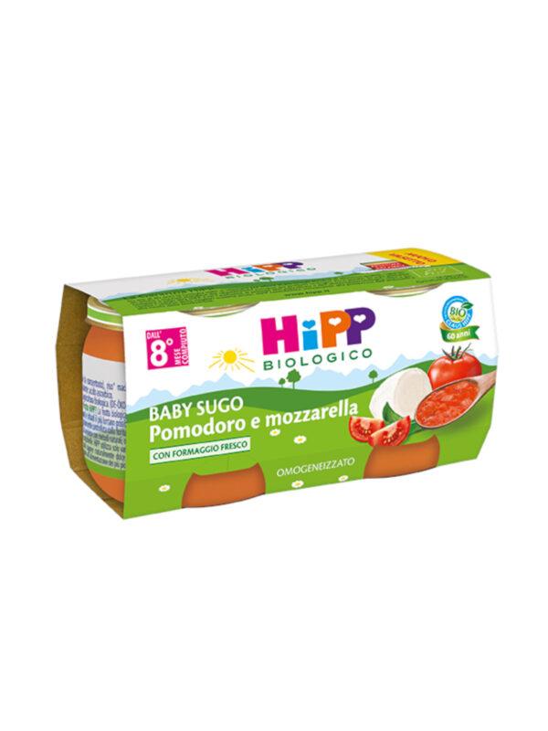 Hipp - Omogeneizzato Sughetti pomodoro e mozzarella 2x80g - HiPP - Riso e sughi per bambini
