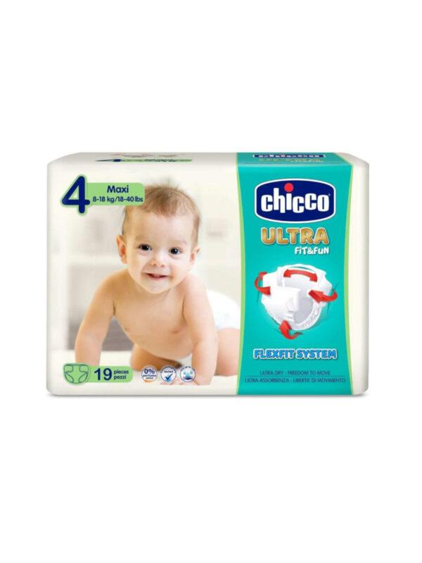 Chicco Ultra Maxi (8-18 kg) - 19 pz - CHICCO - Taglia 4 (7-18 kg)