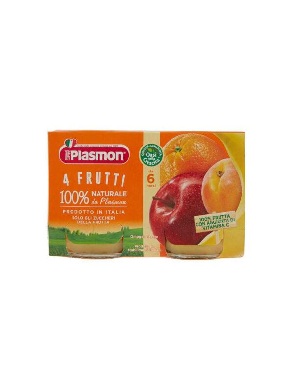 Plasmon - Omogeneizzato 4 Frutti - 2x104g - Plasmon - Omogeneizzato frutta