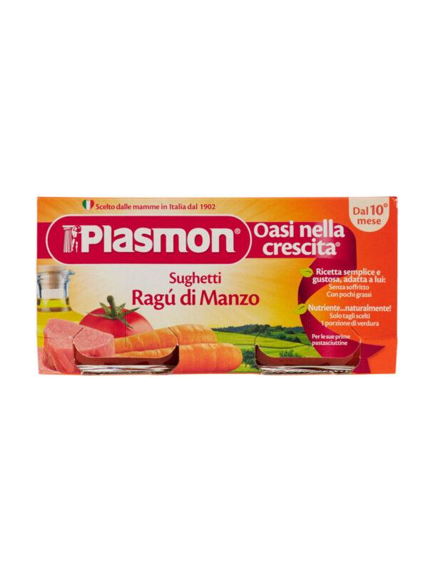 Plasmon - Sughetto - Ragù di Manzo - 2x80g - Plasmon - Riso e sughi per bambini