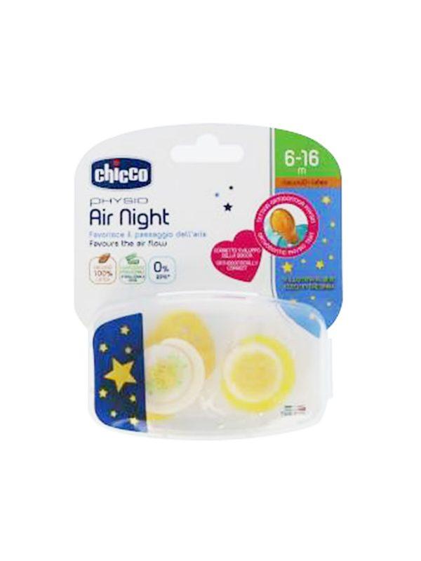 Succhietto Air Night caucciù 6-16 mesi 2 pz - CHICCO - Ciucci