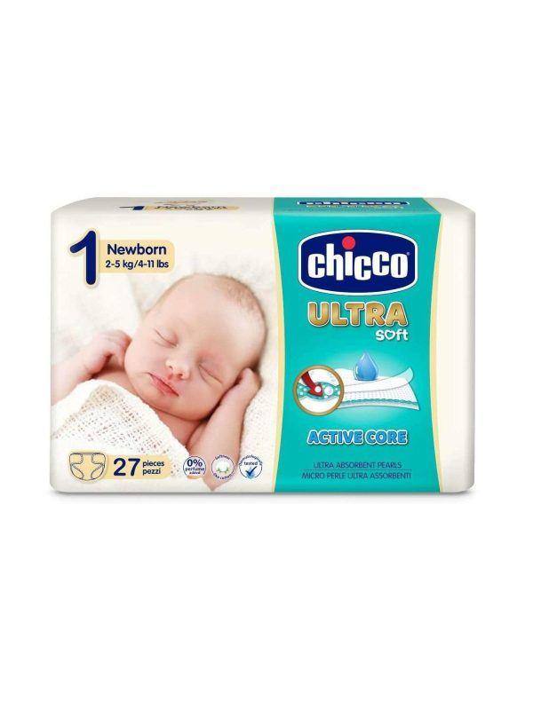 Chicco Ultra Newborn (2-5 kg) - 27 pz - CHICCO - Taglia 1 (2-5 kg)