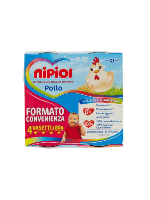 Nipiol - Omogeneizzato Pollo - 4x80g - Nipiol - Omogeneizzato carne