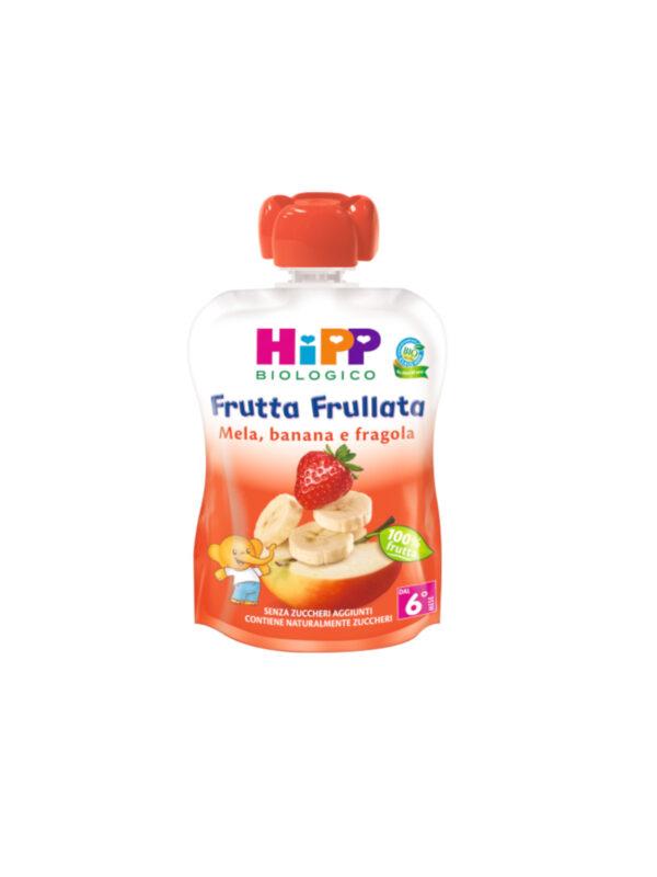 Frutta frullata Mela, banana fragola 90g - HiPP - Merende da bere
