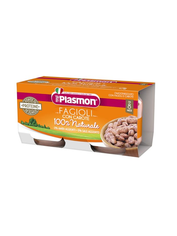 Plasmon - Omogeneizzato  Fagioli Borlotti - 2x80g - Plasmon - Omogeneizzato verdure