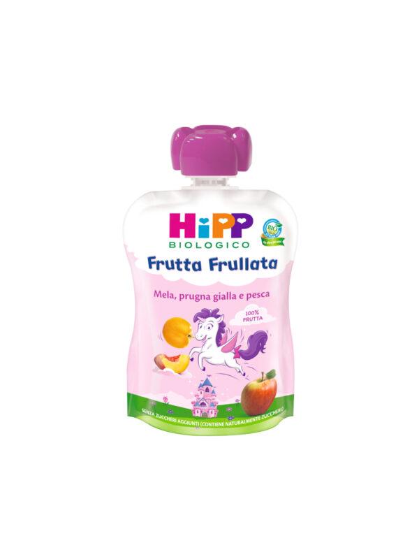 Frutta Frullata mela pesca e prugna gialla (UNICORNO) - HiPP - Merende da bere