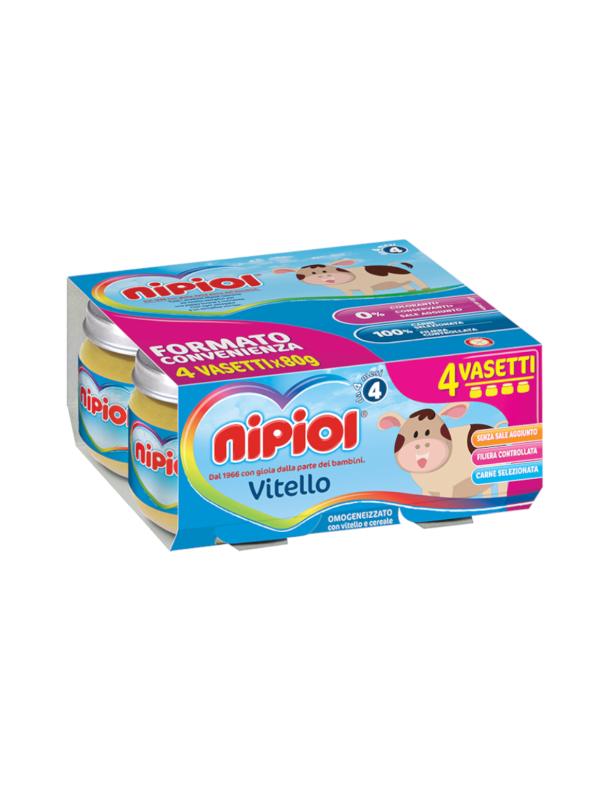 Nipiol - Omogeneizzato Vitello - 4x80g - Nipiol - Omogeneizzato carne