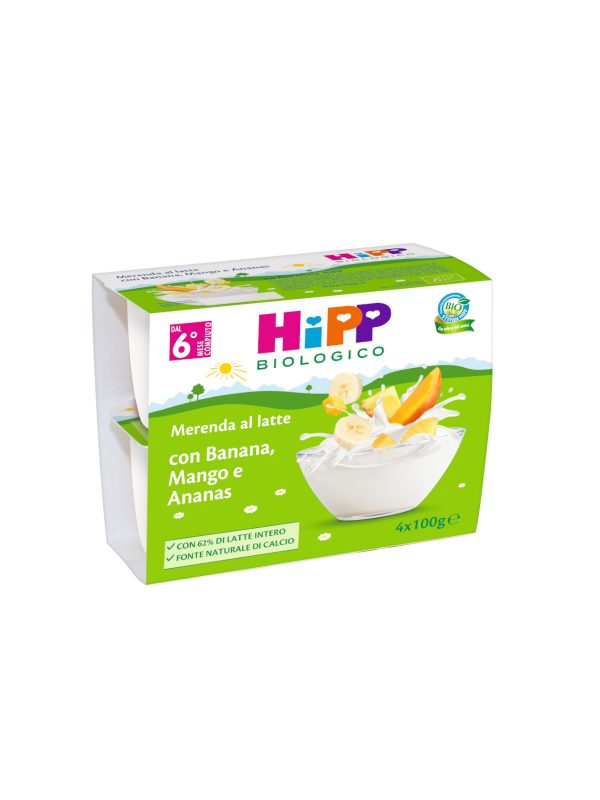 Merenda al latte - Banana mango e ananas 4x100 gr - HiPP - MERENDE PER BAMBINI