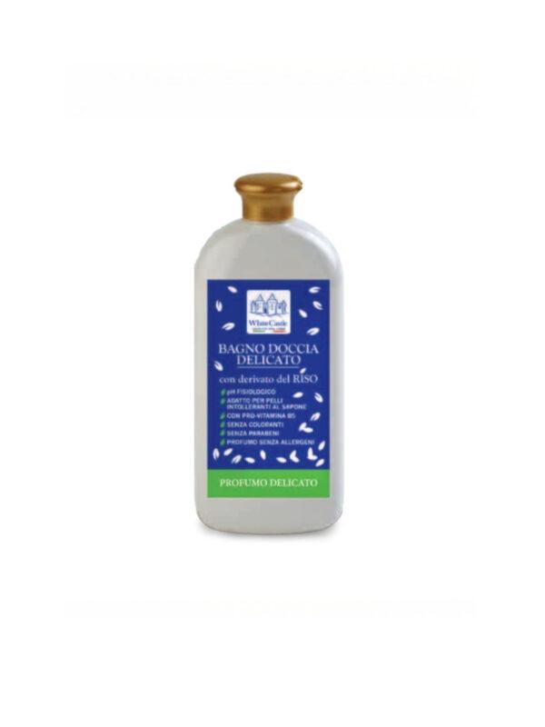Bagno doccia delicato 450ml Linea riso - WHITE CASTLE - Cura e cosmesi bambino