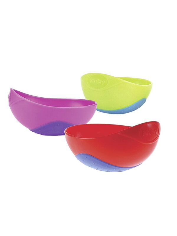 Scodella Easy Grip 250 ml   <strong>Colori assortiti</strong> - NUBY - Accessori Pappa e Allattamento