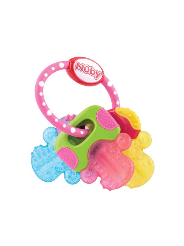Chiavi massaggiagengive rosa con Ice-Gel - NUBY - Cura e cosmesi bambino