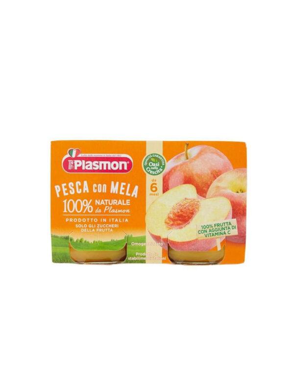 Plasmon - Omogeneizzato Pesca - Mela - 2x104 g - Plasmon - Omogeneizzato frutta