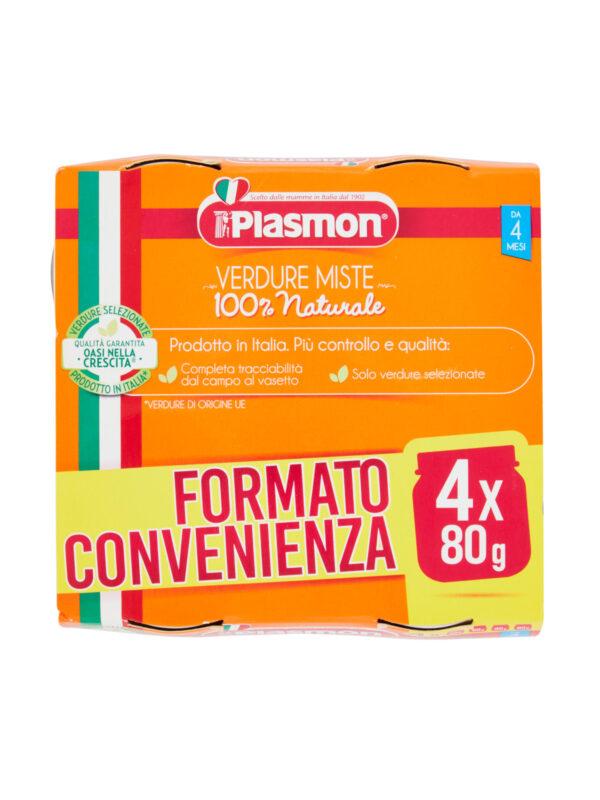 Plasmon - Omogeneizzato Verdure miste - 4x80g - Plasmon - Omogeneizzato verdure