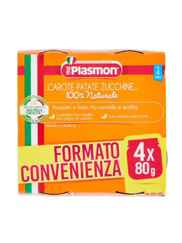 Plasmon - Omo Carote - Patate - Zucchine - 4x80g - Plasmon - Omogeneizzato verdure