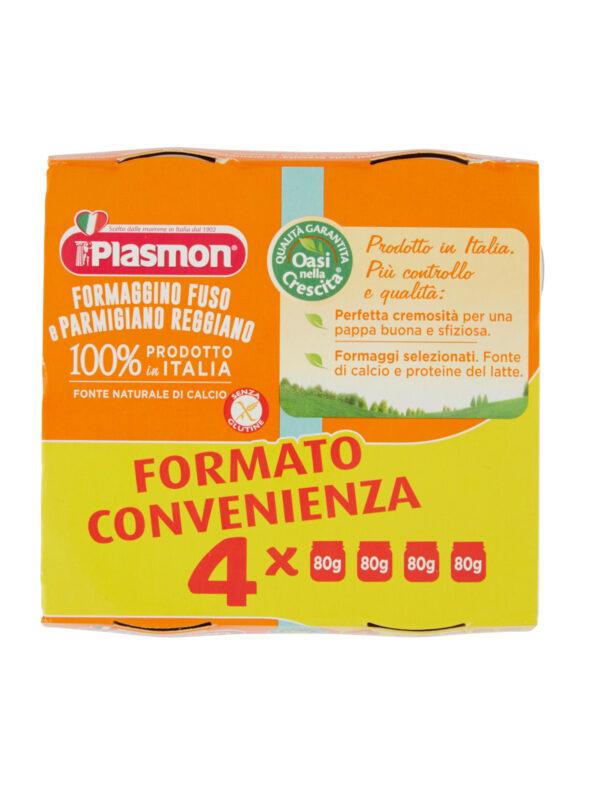 Plasmon - Omo Formaggino Parmigiano - 4x80g - Plasmon - Omogeneizzato formaggio
