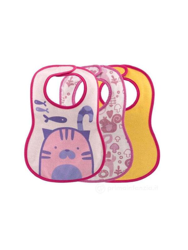 Bavagline Girl 6 mesi+ <strong>Colori assortiti</strong> - CHICCO - Bavaglini