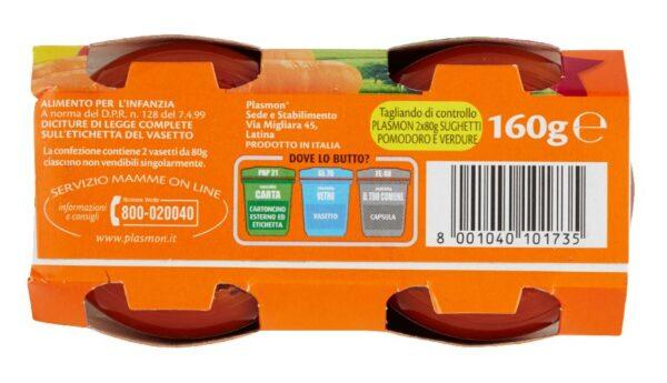 Plasmon - Sughetto - Pomodoro e Verdure - 2x80g - Plasmon - Riso e sughi per bambini