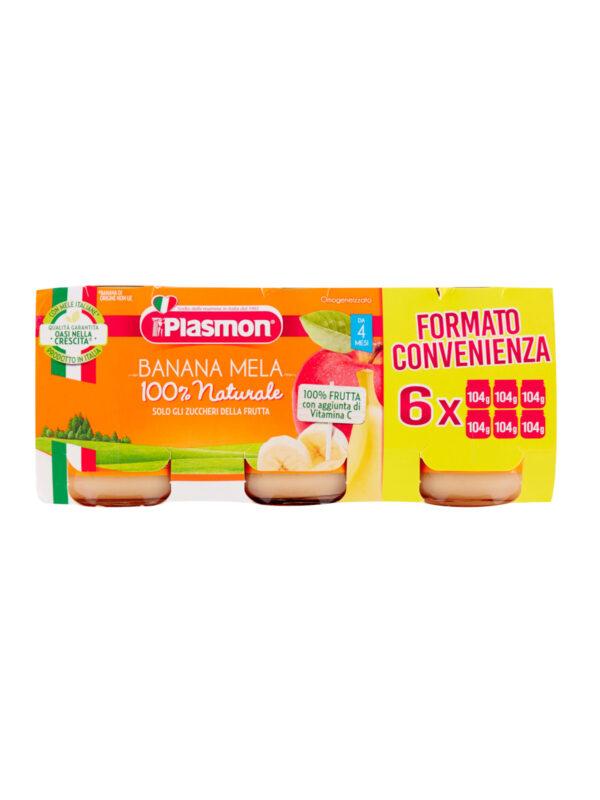 Plasmon - Omogeneizzato Banana Mela - 6x104g - Plasmon - Omogeneizzato frutta