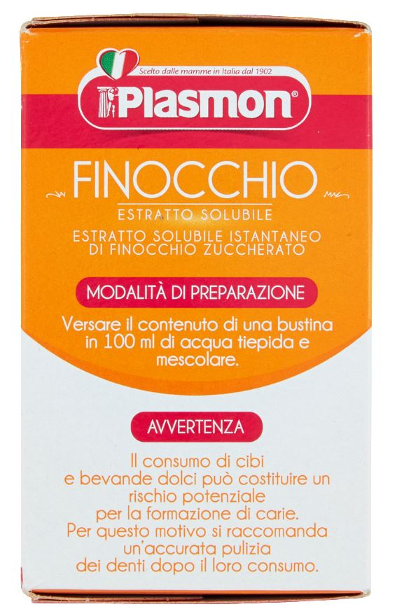 Plasmon - Infuso Finocchio - 24 Buste - 24x5g - Plasmon - Tisane per bambini