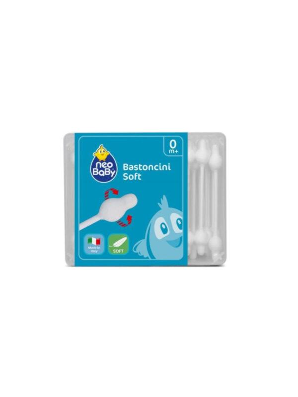 Bastoncini Cotton Fioc 56 pz - NEOBABY - Cura e cosmesi bambino