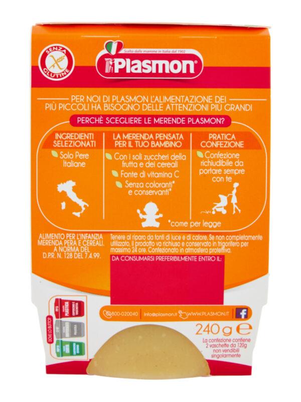Plasmon - Merende Pera - Cereali - 2x120g - Plasmon - Yogurt e budini per bambini