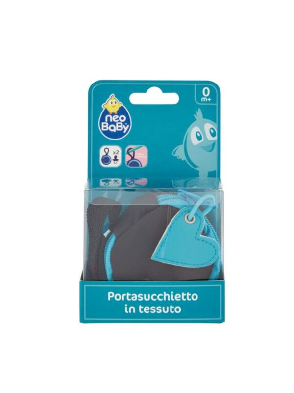 Portasucchietto in tessuto azzurro - NEOBABY - Ciucci