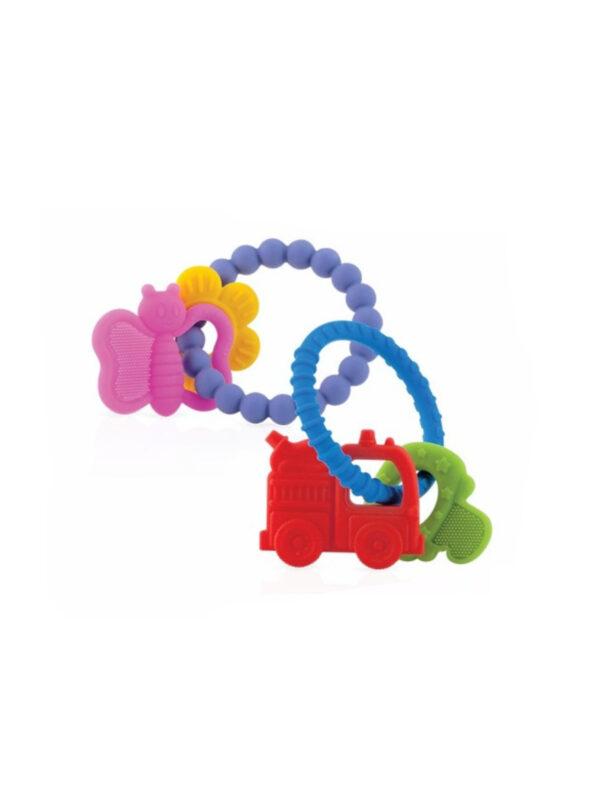 Massaggiagengive con anello morbido in silicone <strong>Colori assortiti</strong> - NUBY - Cura e cosmesi bambino