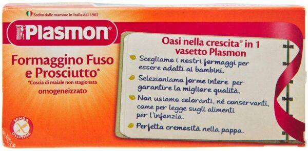 Plasmon - Omogeneizzato Formaggio - Prosciutto - 2x80g - Plasmon - Omogeneizzato formaggio