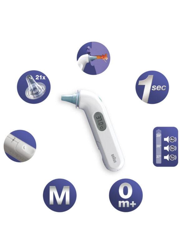 Termometro auricolare infrarossi thermoscan 3 - BRAUN - Accessori Bagno e Igiene