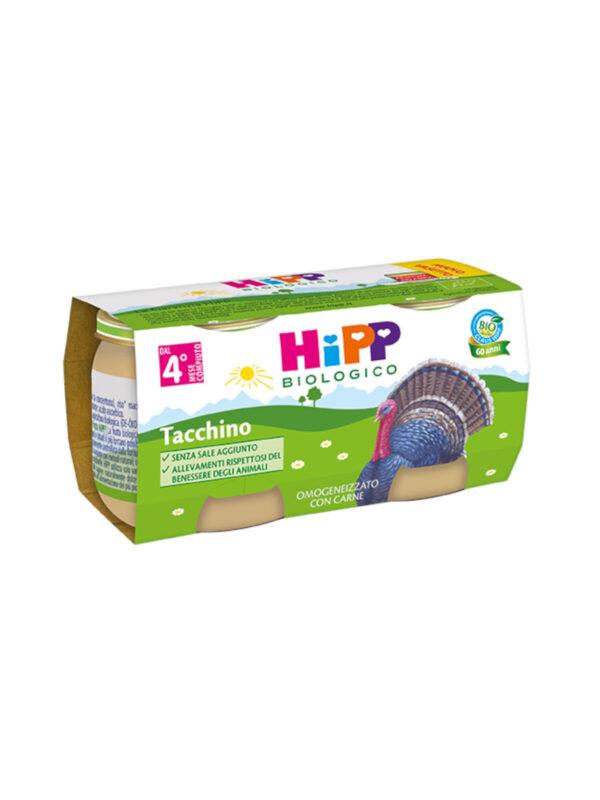 Hipp - Omogeneizzato Tacchino 2x80g - HiPP - Omogeneizzato carne