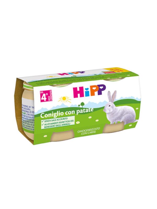 Omogeneizzato Coniglio con patate 2x80g - HiPP - Omogeneizzato carne