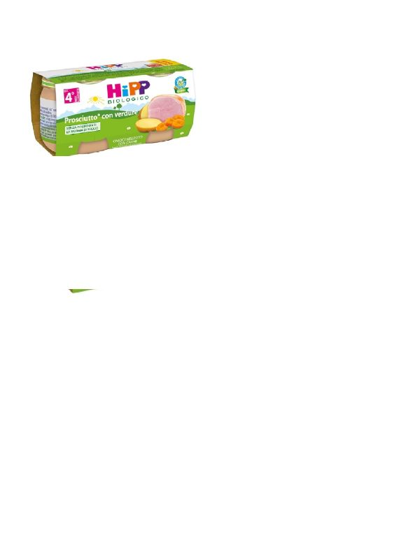 Hipp - Omogeneizzato Prosciutto con verdure 2x80g - HiPP - Omogeneizzato carne
