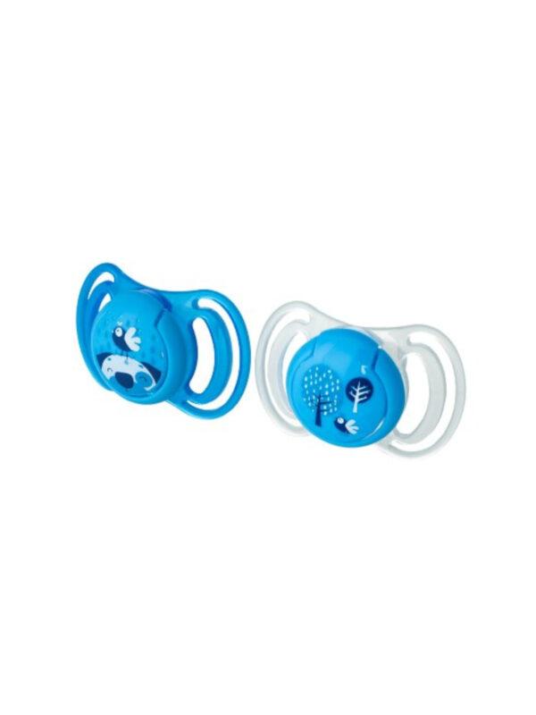 Succhietto anatomico silicone blu maxi 2 pz <strong>Colori assortiti</strong> - NEOBABY - Ciucci