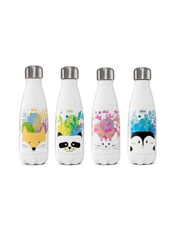 Bottiglia Inox Drinky 350 ml con decorazioni  <strong>Colori assortiti</strong> - CHICCO - Accessori Pappa e Allattamento