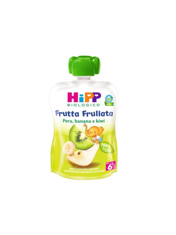 Frutta frullata Pera, banana e kiwi 90g - HiPP - Merende da bere