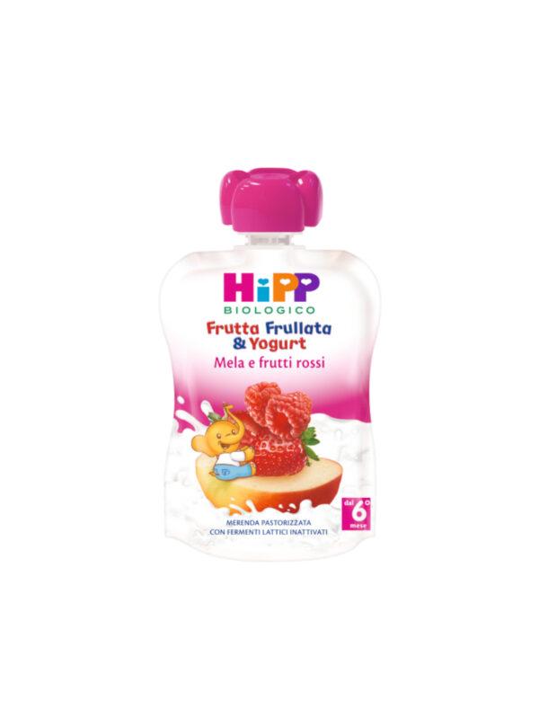 Frutta frullata Yogurt Mela Frutti Rossi 90g - HiPP - Merende da bere