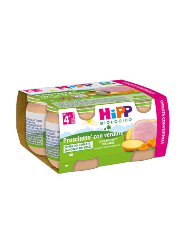 Omogeneizzato Prosciutto con verdure 4x80g - HiPP - Omogeneizzato carne