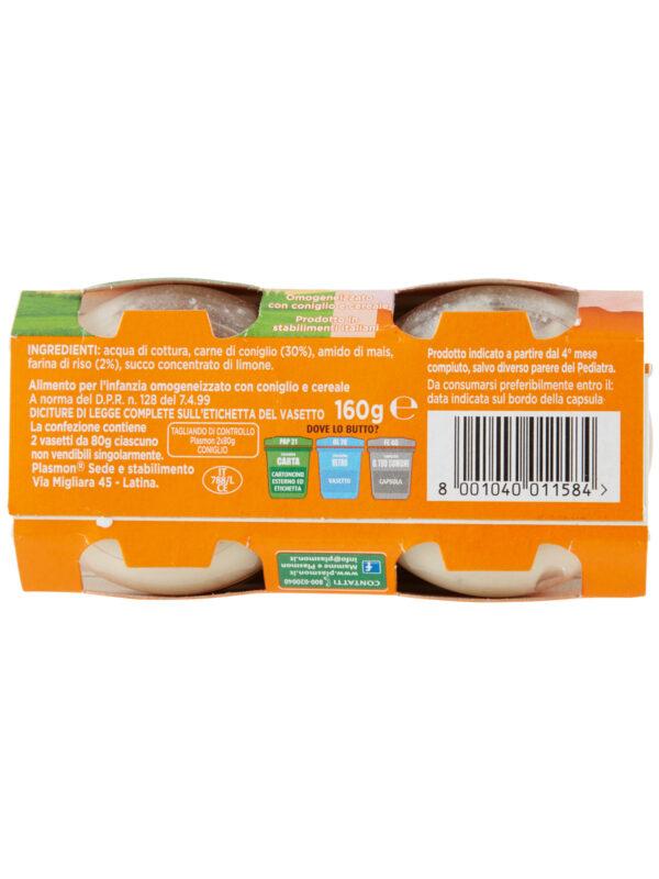 Plasmon - Omogeneizzato Coniglio - 2x80g - Plasmon - Omogeneizzato carne