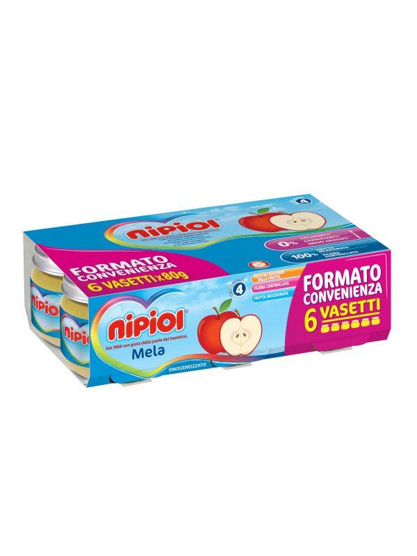 Nipiol - Omogeneizzato Mela - 6x80g - Nipiol - Omogeneizzato frutta