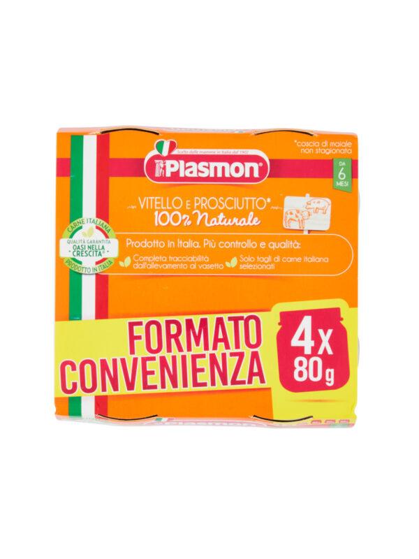 Plasmon - Omo Vitello - Prosciutto - 4x80g - Plasmon - Omogeneizzato carne