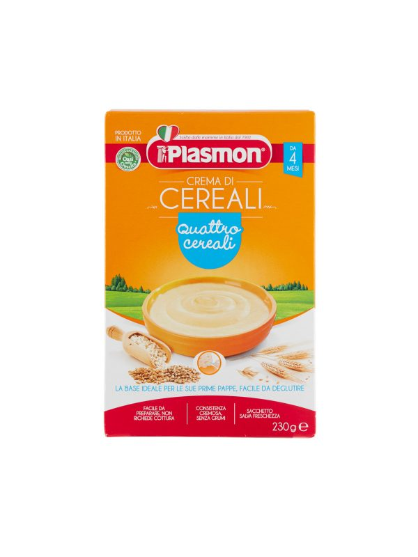 Plasmon - Cereali - Crema ai 4 Cereali - 2x230g - Plasmon - Creme e Pappe Lattee