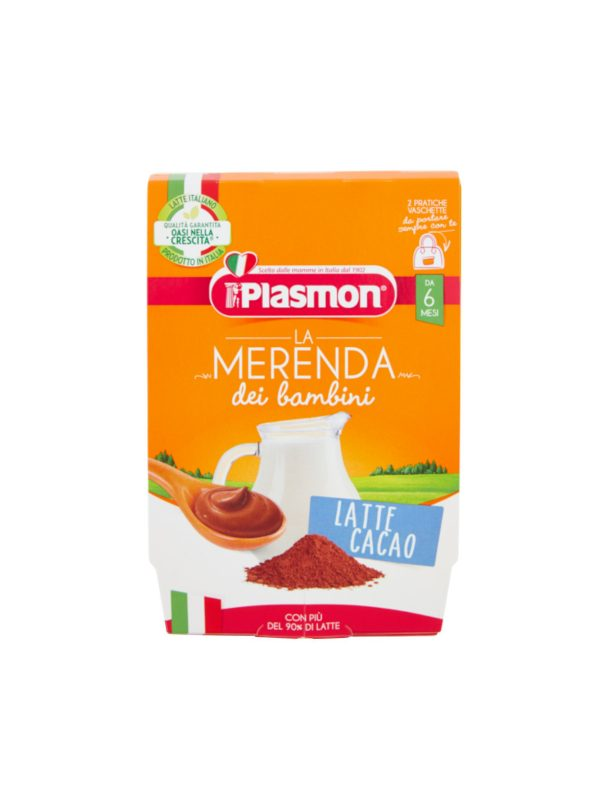 Plasmon - Merenda Latte Cacao - 2x120g - Plasmon - Yogurt e budini per bambini