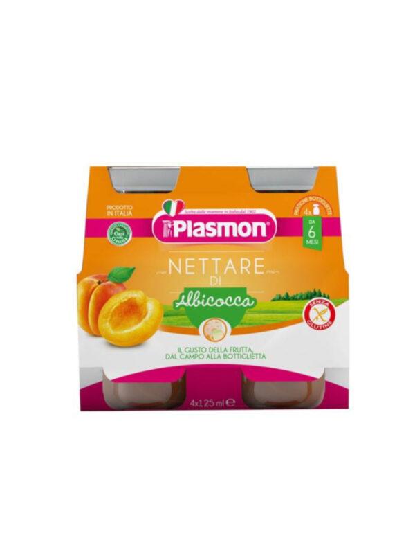 Plasmon - Nettare di Albicocca - 4x125ml - Plasmon - Frutta frullata