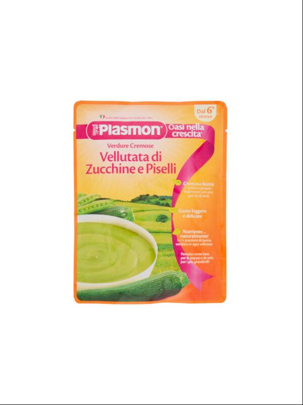 Plasmon - Pouches Vellutata Zucchine e Piselli - 180g - Plasmon - Brodi e passati per bambini