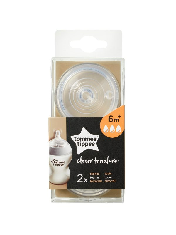 Tommee Tippee tettarelle Closer to Nature, flusso veloce, 2 pezzi - TOMMEE TIPPEE