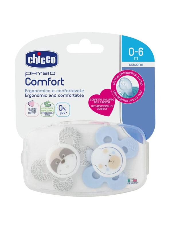 Succhietto Comfort Boy 0-6 mesi 2 pz <strong>Colori assortiti</strong> - CHICCO - Ciucci